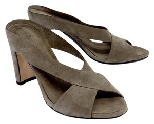 Roberto Del Carlo Taupe Suede Slip On Sandal Sandals