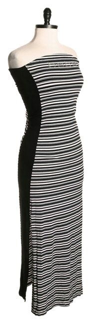 Preload https://item4.tradesy.com/images/bebe-black-and-white-striped-rhinestones-strapless-long-casual-maxi-dress-size-2-xs-1662678-0-0.jpg?width=400&height=650