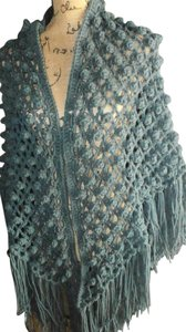 Other NEW ELEGANT CHAL SOFT HANDMADE CROCHET 100% ACRILIC midnight teal