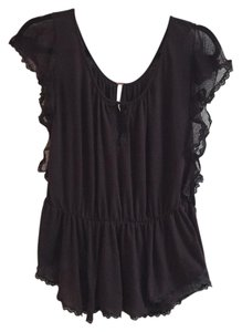 Free People Top Dark purple