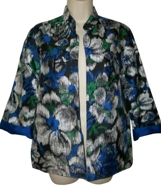 Preload https://item2.tradesy.com/images/chico-s-100-silk-floral-blue-blazer-1662706-0-0.jpg?width=400&height=650