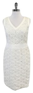 Escada short dress White Textured Circle Print on Tradesy