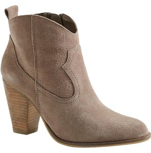 Steve Madden Ankle Taupe Suede Boots