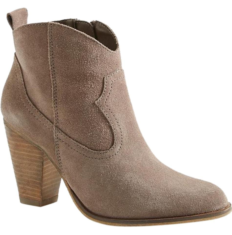 fe4f563e2e7 Steve Madden Taupe Suede Plover Ankle Boots Booties Size US 9 ...