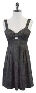 Trina Turk short dress Grey Chambray Linen Bow on Tradesy