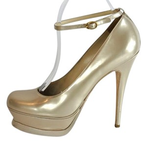 Saint Laurent Beige Oearl Pumps