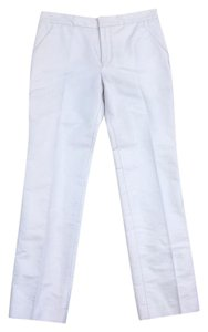 Balenciaga White Cotton Silk Pants