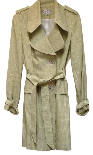 Preload https://img-static.tradesy.com/item/16627798/alberto-makali-green-button-front-belted-trench-coat-size-8-m-0-1-650-650.jpg
