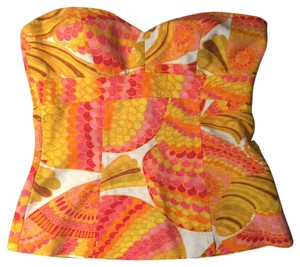 Trina Turk Top Orange, pink, yellow, green