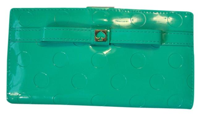 Item - Lacey Wallet In Bright Beryl Patton Leather Wristlet