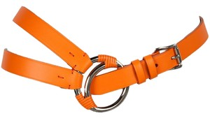 Ralph Lauren Leather Multi-Strap Belt with Silver Buckle and Hardware