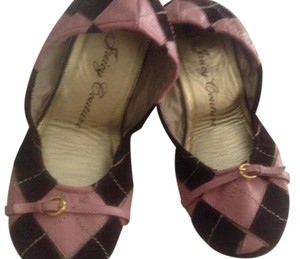 Juicy Couture Red Ballet Leather Suede Pink/Brown Flats