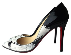 Christian Louboutin black / white Pumps
