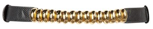 Judith Leiber Exotic Adjustable Belt with Gold Decorative Clasp