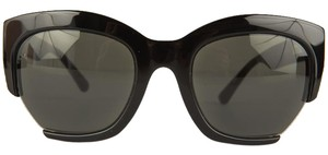 Calvin Klein Calvin Klein Black Cat Eye Sunglasses with Cut Out Accent