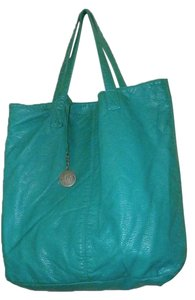 Aropostale Leather Italy Tote in GREEN