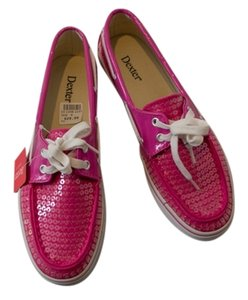 Dexter Sequined Top-sider Boat Fuscia Pink Flats
