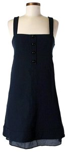 Navy Maxi Dress by Derek Lam Virgin Wool Sleeveless Shift