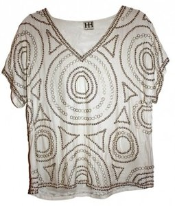Haute Hippie Top Ivory