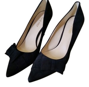 Nine West Suede Evening Black Pumps