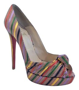 Christian Louboutin Jenny Multi-Color Pumps