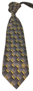 Versace VERSACE BLACK AND YELLOW SILK TIE