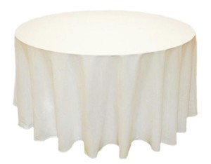20 Ivory 72 Inch Tablecloth