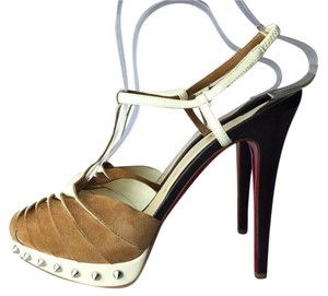 Christian Louboutin black / white / beige Pumps
