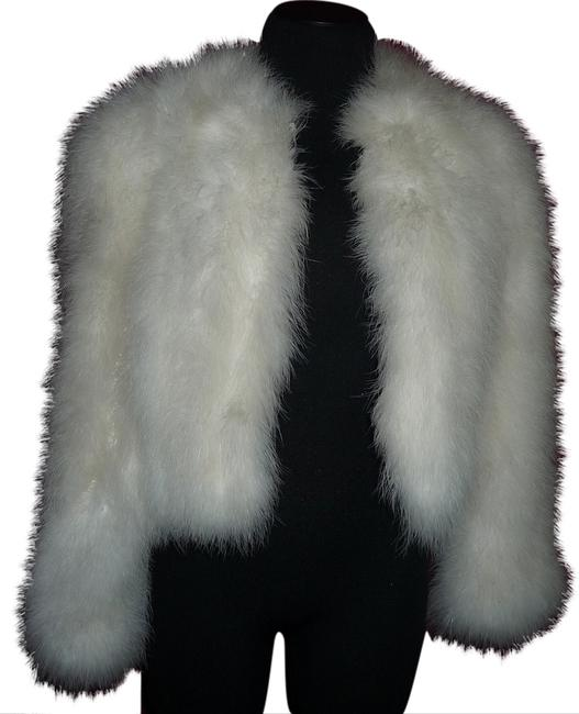 Item - White 80's Fully-lined Genuine Ostrich-feather Jacket (Not A) Coat Size 4 (S)