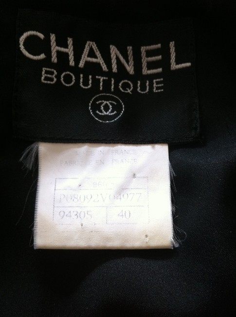 Chanel Chanel Wool Skirt Suit With Gold CC On Black Buttons
