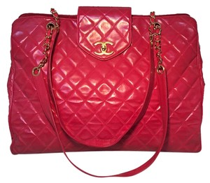 Chanel Model Weekender Overnighter Tote red Travel Bag