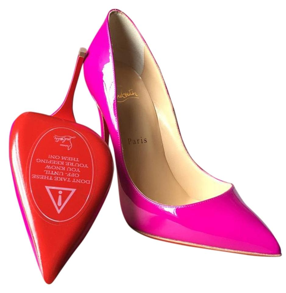 Christian Pigalle Louboutin Indian Rose (Magenta/Pink) Pigalle Christian Follies 120 Pumps 0325a0