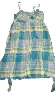 No Boundaries short dress Blue and Green Sun Plaid on Tradesy