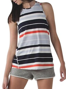 Lululemon EUC LULULEMON ALL TIED UP TANK MULTI-COLORED STRIPE SIZE 2