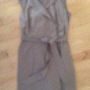 Ann Taylor Trench Khaki Summer Office Belted Dress