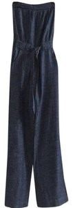 Arden B. Jumpsuit Strapless Trouser Pants Chambray Blue