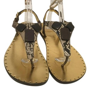Michael Kors All T & Ankle Straps Multi color embossed leather Sandals