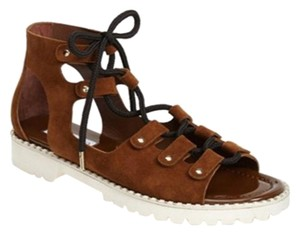 Jimmy Choo Suede Chunky Studded brown Sandals