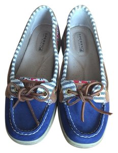 Sperry Blue, floral Flats
