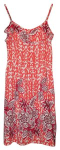 Xhilaration short dress Orange & Red Summer Beachy Hawaiian on Tradesy