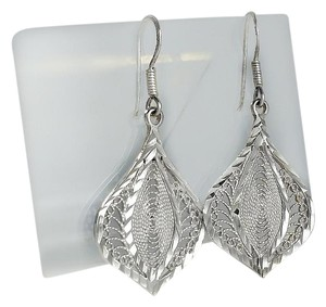Sterling Filigree Teardrop Dangle Earrings