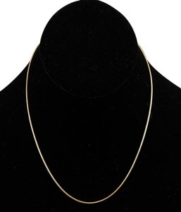 Vermeil 16.75 Gold Over Sterling Silver Rat Tail Chain Necklace Bj04