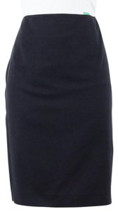 Tahari F31mr300 Navy Blend Satin Lined Pencil B134 Skirt