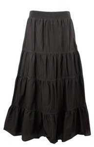 Chico's 1 Tiered B137 Maxi Skirt Brown
