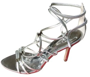 Guess By Marciano Strappy Silver Sandals