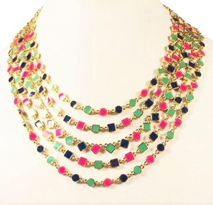 Kate Spade Chic Geometric Shapes NWT Kate Spade Cubetti 12K Gold & Enamel Necklace MSRP$178