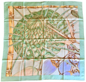 Herms Authentic Hermes Scarf - Jardin Creole in Teal - New w/o Tags