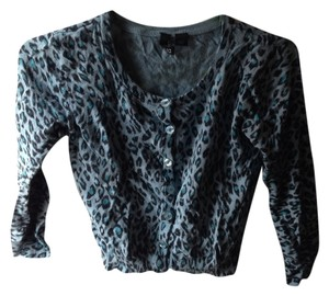 H&M Teal Leopard Print Sweater