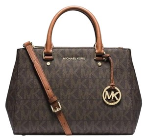 Michael Kors Sutton Medium Satchel in Brown