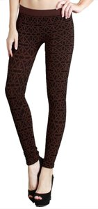 Nikibiki Snowflake Dark Brown Leggings
